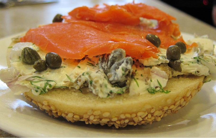 Smoked Salmon with Dill, Caper, and Red Onion Cream Cheese ...